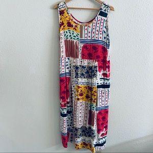 Jams World   Floral 80s Print Dress